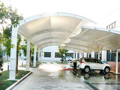 医院膜结构停车场报价,医院钢结构停车场安装加工