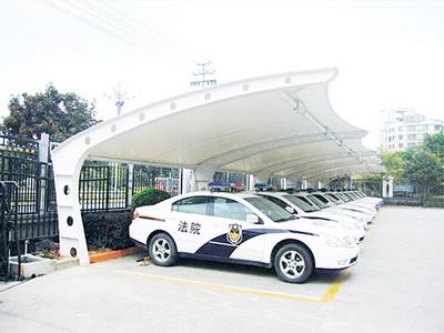 车棚膜结构费用,停车棚钢结构安装