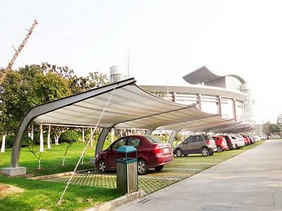 停车棚膜结构报价,停车棚钢结构加工制作