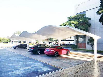 非机动车膜结构停车棚安装,非机动车膜结构停车棚报价施工
