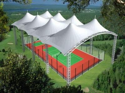 网球场钢结构工程膜结构施工