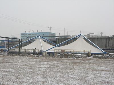 污水池膜结构安装