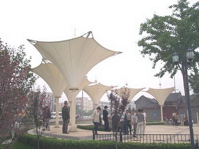 产业园景观膜结构安装