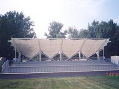 学校停车棚膜结构安装