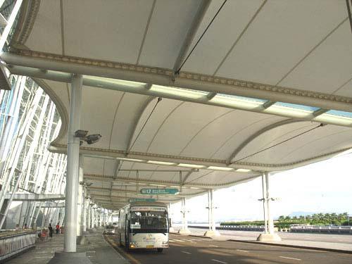 法拉利膜材,法拉利公交站膜结构